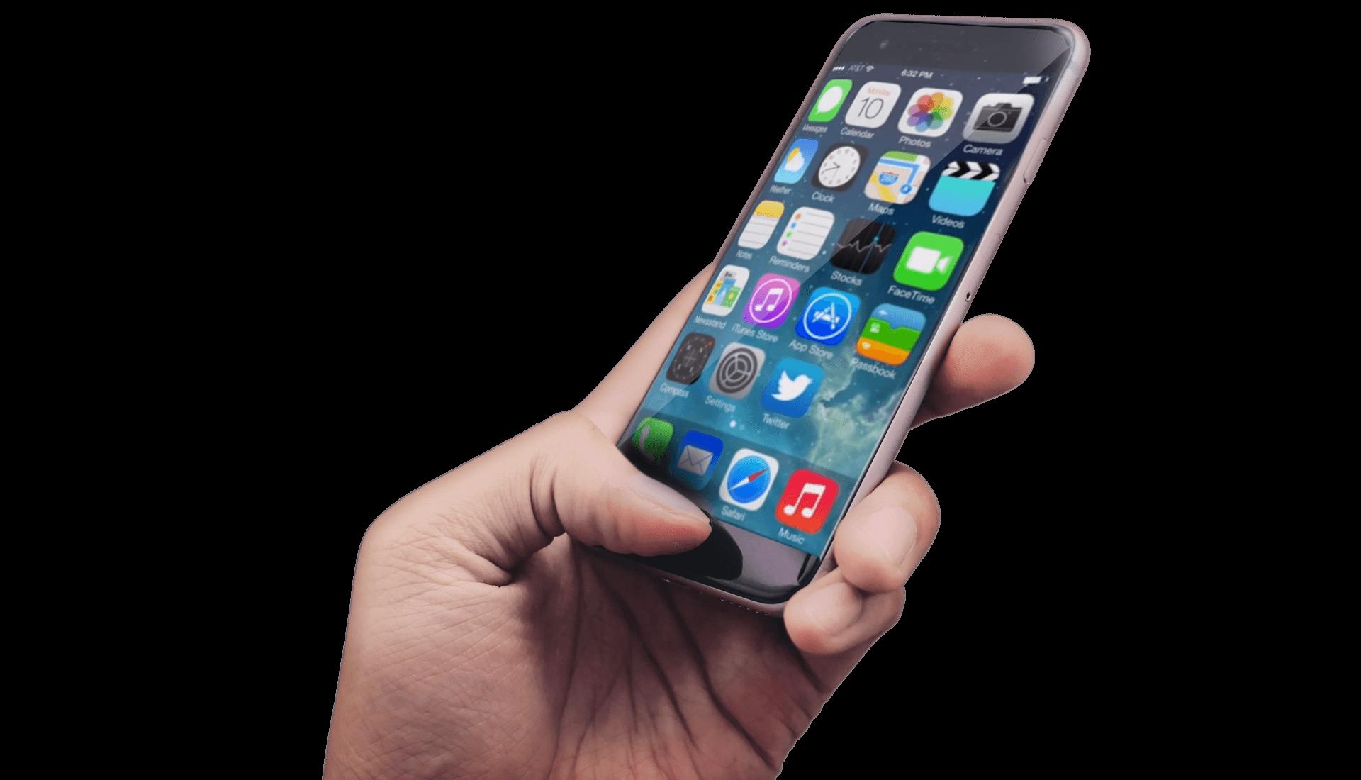 iphone 6 tenuto in mano